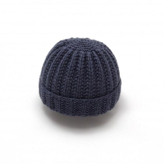 Bonnet rond bébé laine anthracite