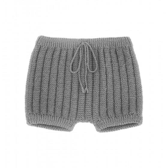 Culotte courte laine gris souris
