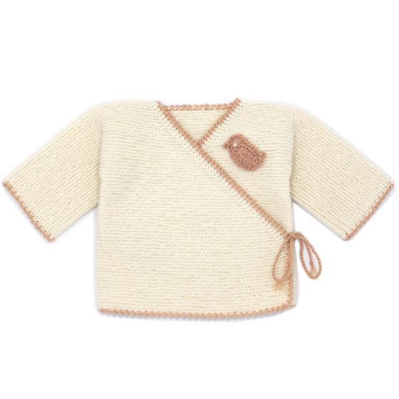 Brassière cache-coeur laine  brodée