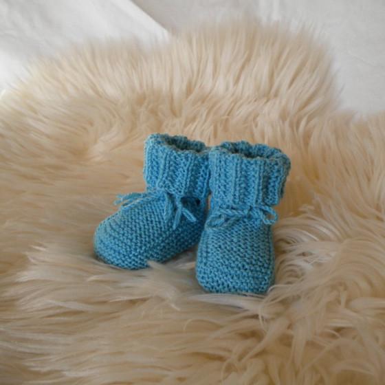 Chaussons garçon laine mérinos