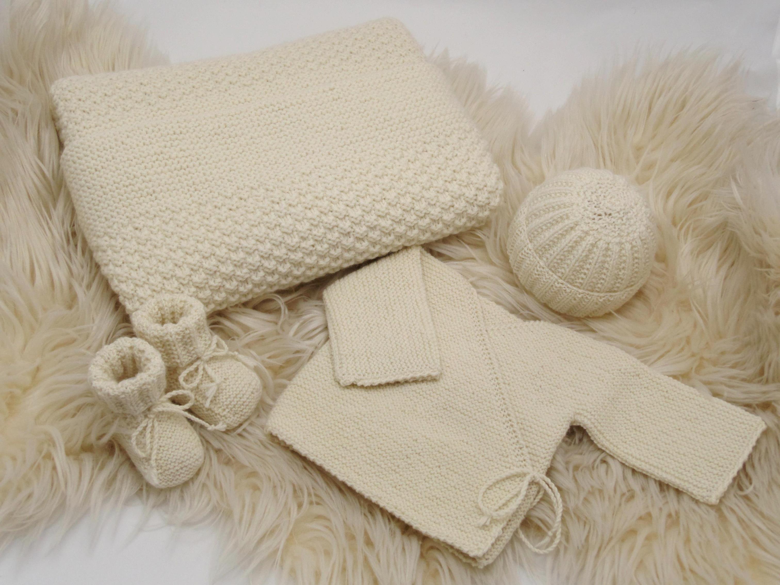 38adf04cdea67 Kit naissance laine vetement bebe laine