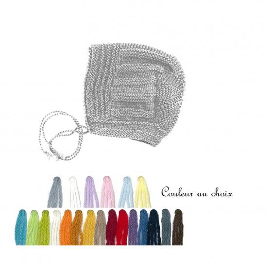 Béguin vintage laine couleur au choix