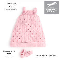Kit Tricot Robe 30 et Chaussons 31