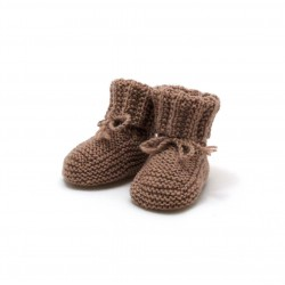 Chaussons taupe laine mérinos