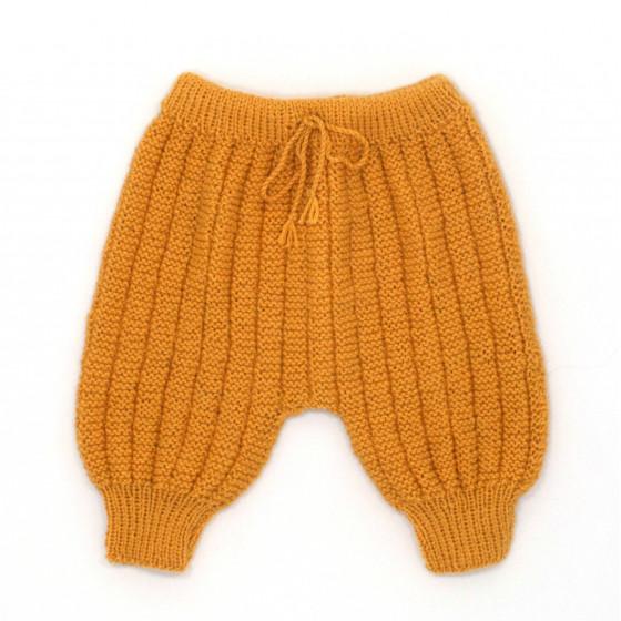 Pantalon Sarouel bébé laine moutarde