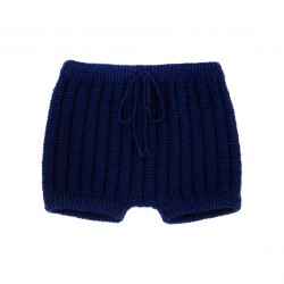 Culotte courte laine bleu marine