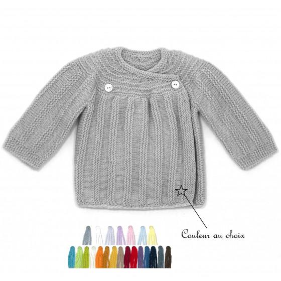 Brassière laine vintage couleur au choix