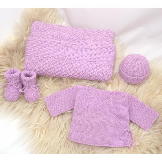 Trousseau de naissance laine Parme