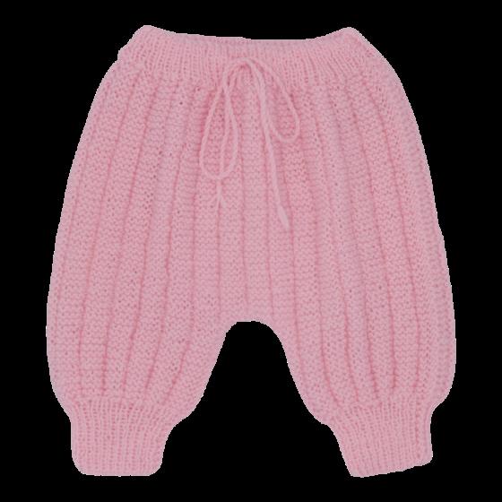 Pantalon Sarouel rose laine mérinos
