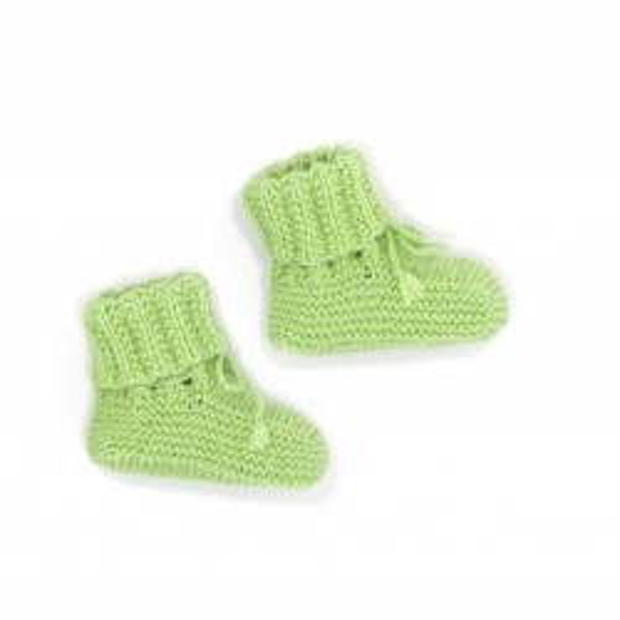 Chaussons bébé anis laine mérinos
