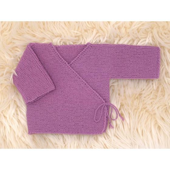 Brassière unie fille laine mérinos naturelle