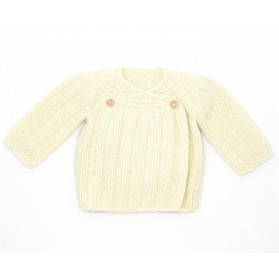 Brassière vintage laine naturelle écrue