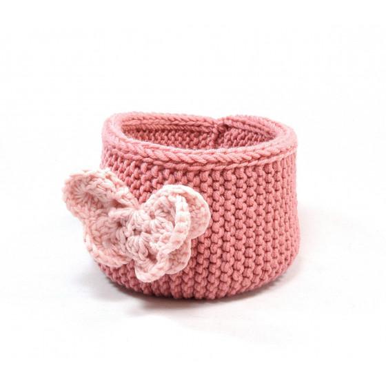 accessoire amovible : papillon rose poudre
