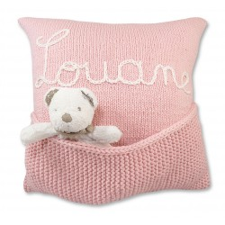 Coussin Personnalisable Rose