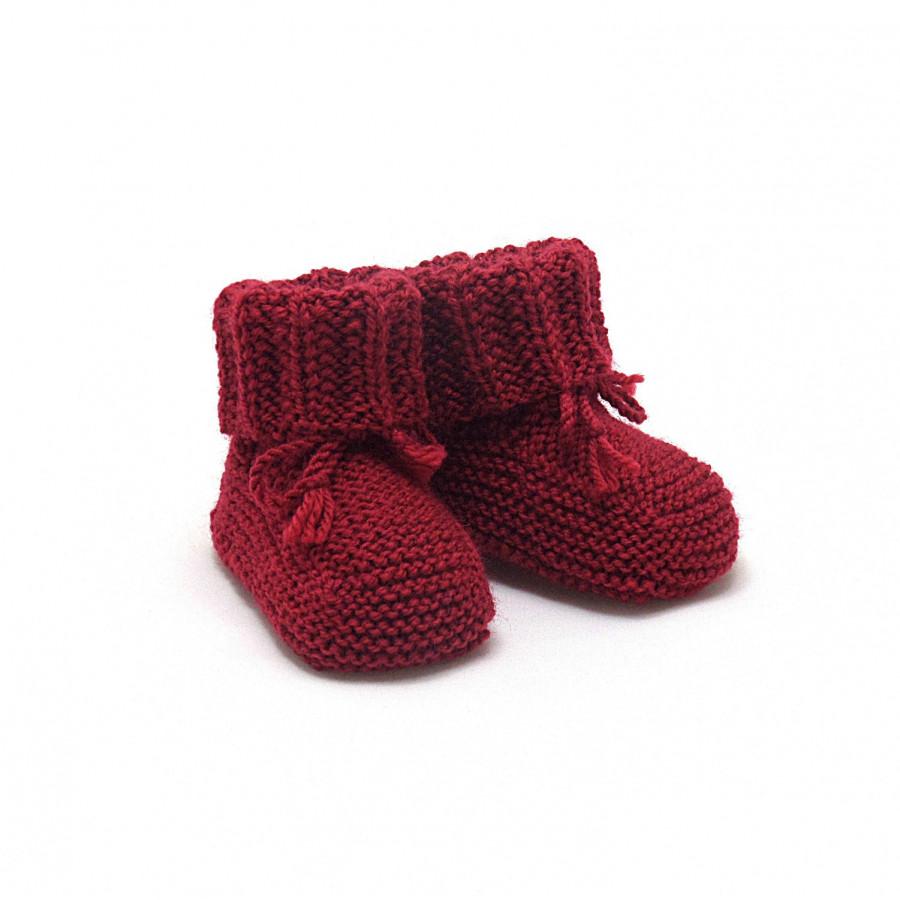 Chaussons rouge basque laine mérinos