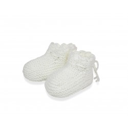 Chaussons dentelle blancs