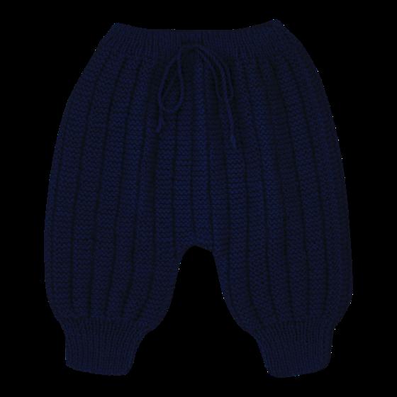 Pantalon Sarouel bleu marine laine mérinos