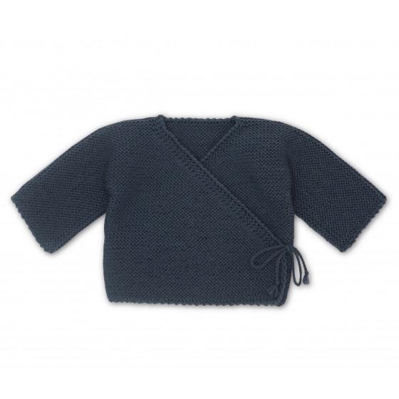 Brassière cache-coeur laine anthracite