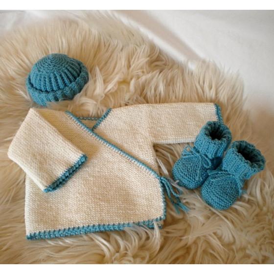 Ensemble Maternité Blanc Turquoise