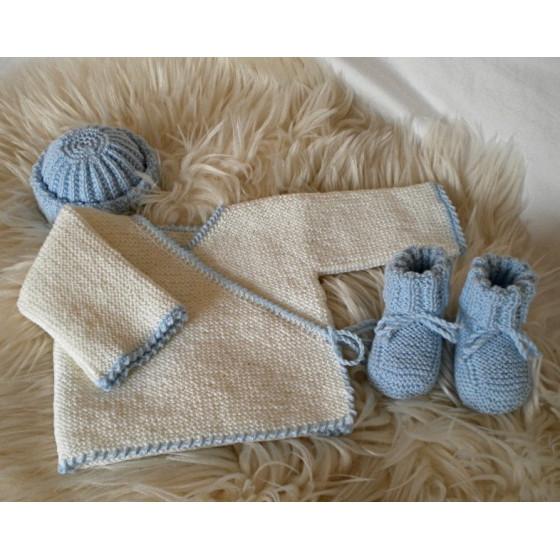 Ensemble Maternité Blanc Bleu