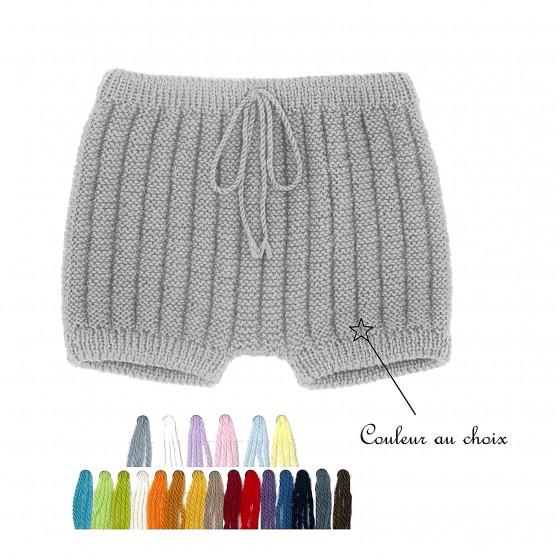 Culotte courte laine couleur au choix
