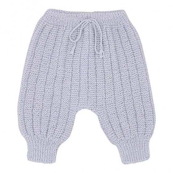 Pantalon Sarouel gris clair laine mérinos