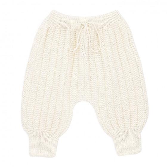 Pantalon Sarouel bébé laine ivoire