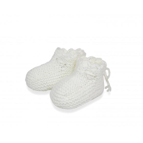 Chaussons dentelle blancs