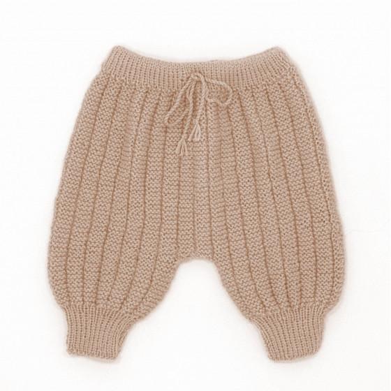 Pantalon Sarouel bébé laine beige