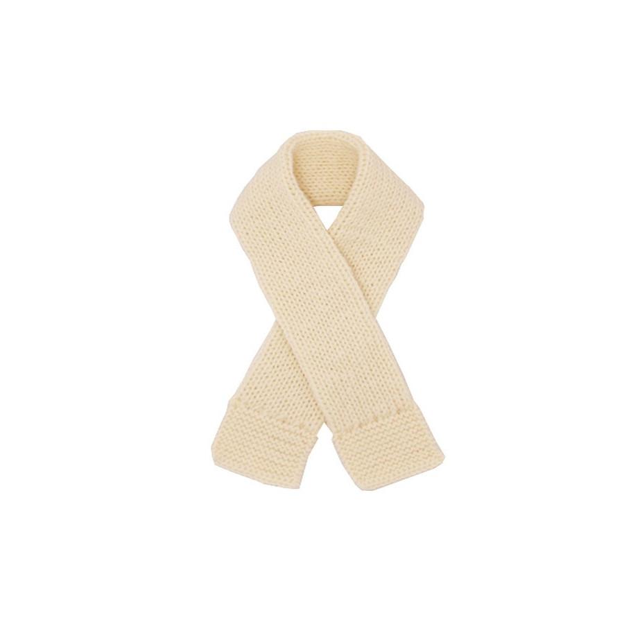 Echarpe bébé écru laine naturelle