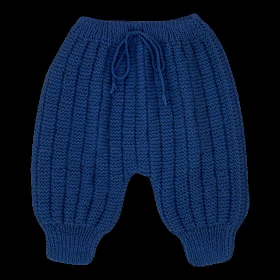 Pantalon Sarouel indigo laine mérinos