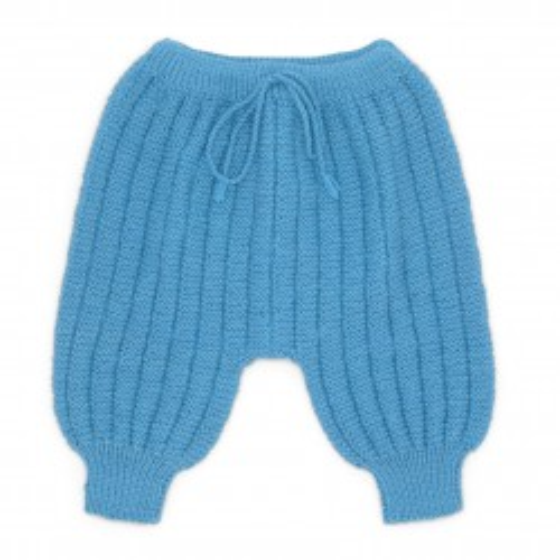 Pantalon Sarouel bébé laine turquoise