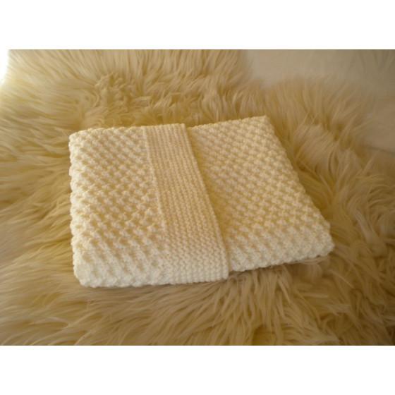 Couverture bébé laine blanc