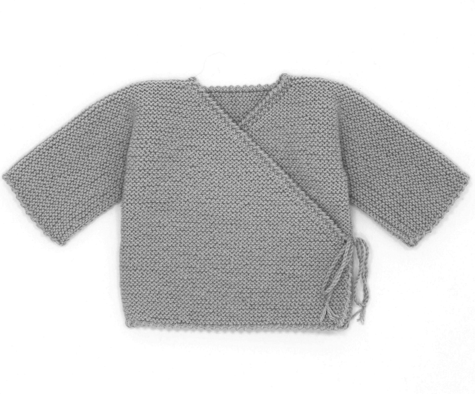 e1519e84251d6 Gilet naissance laine brassiere 3 mois a tricoter