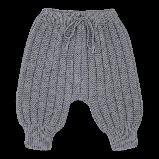 Pantalon Sarouel bébé laine gris souris