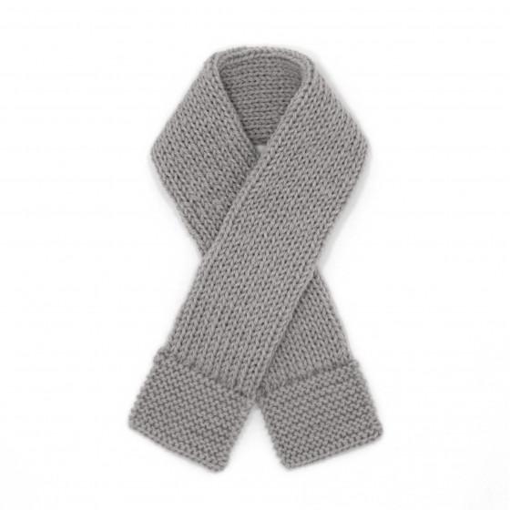 Echarpe bébé laine gris souris