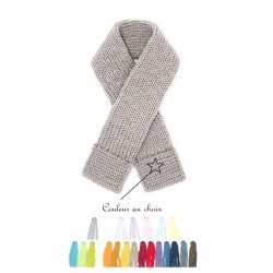 Echarpe bébé laine couleur au choix