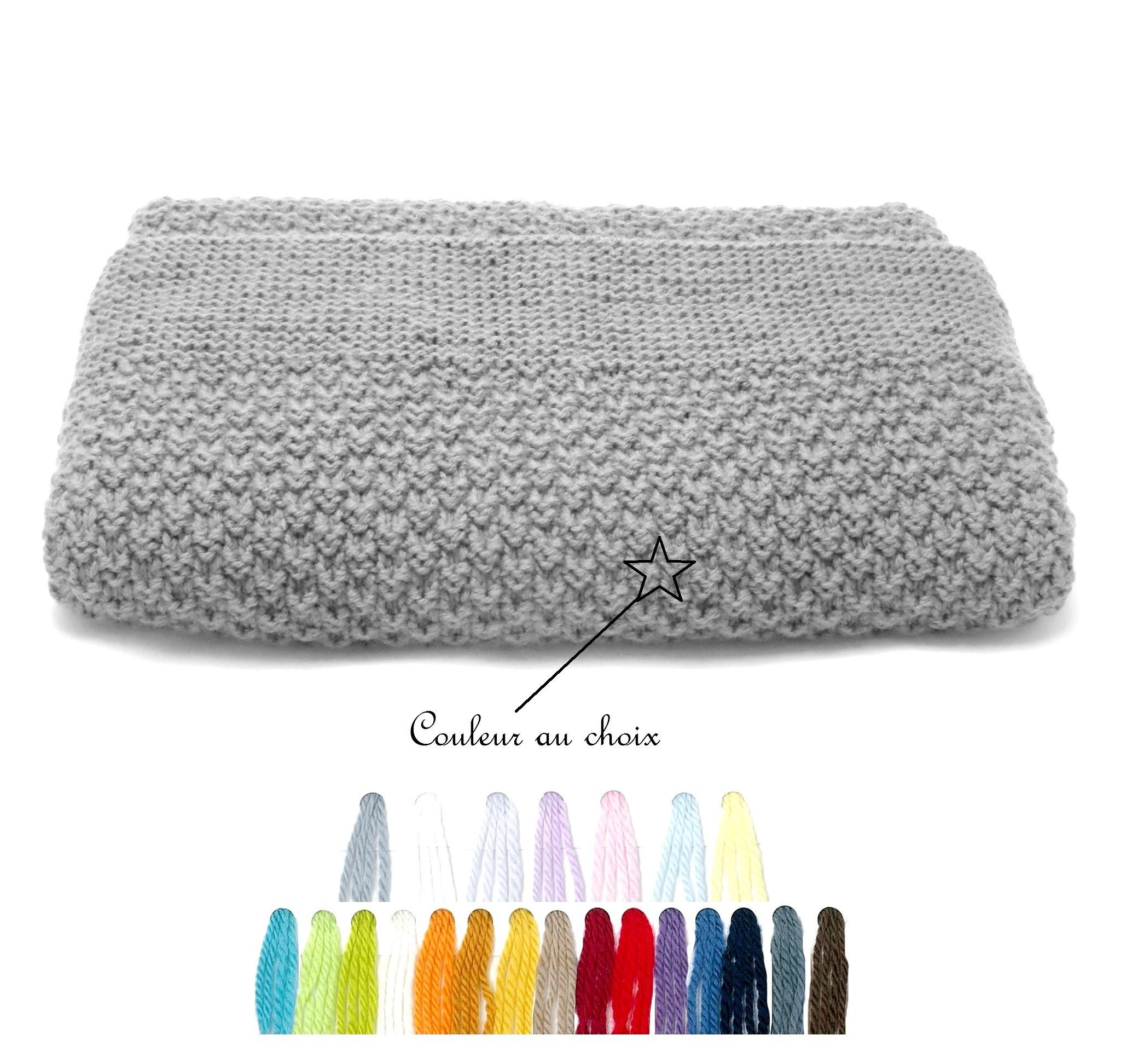 couverture en laine bébé couverture épaisse bébé tricotée main 100% laine mérinos naturel couverture en laine bébé
