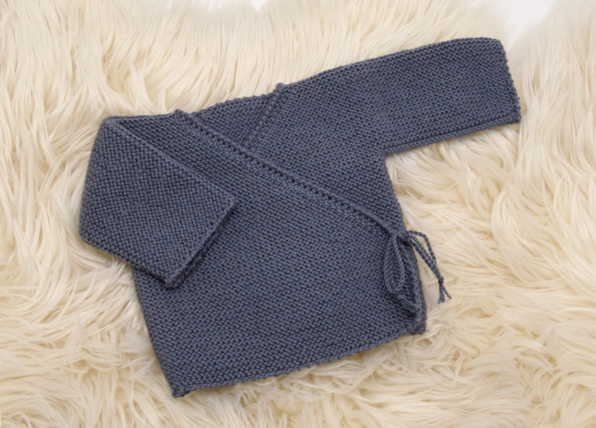 brassiere cache coeur bebe a tricoter