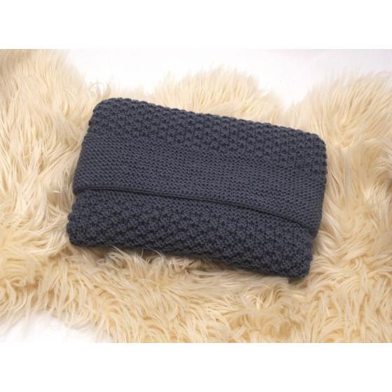 Couverture bébé laine anthracite