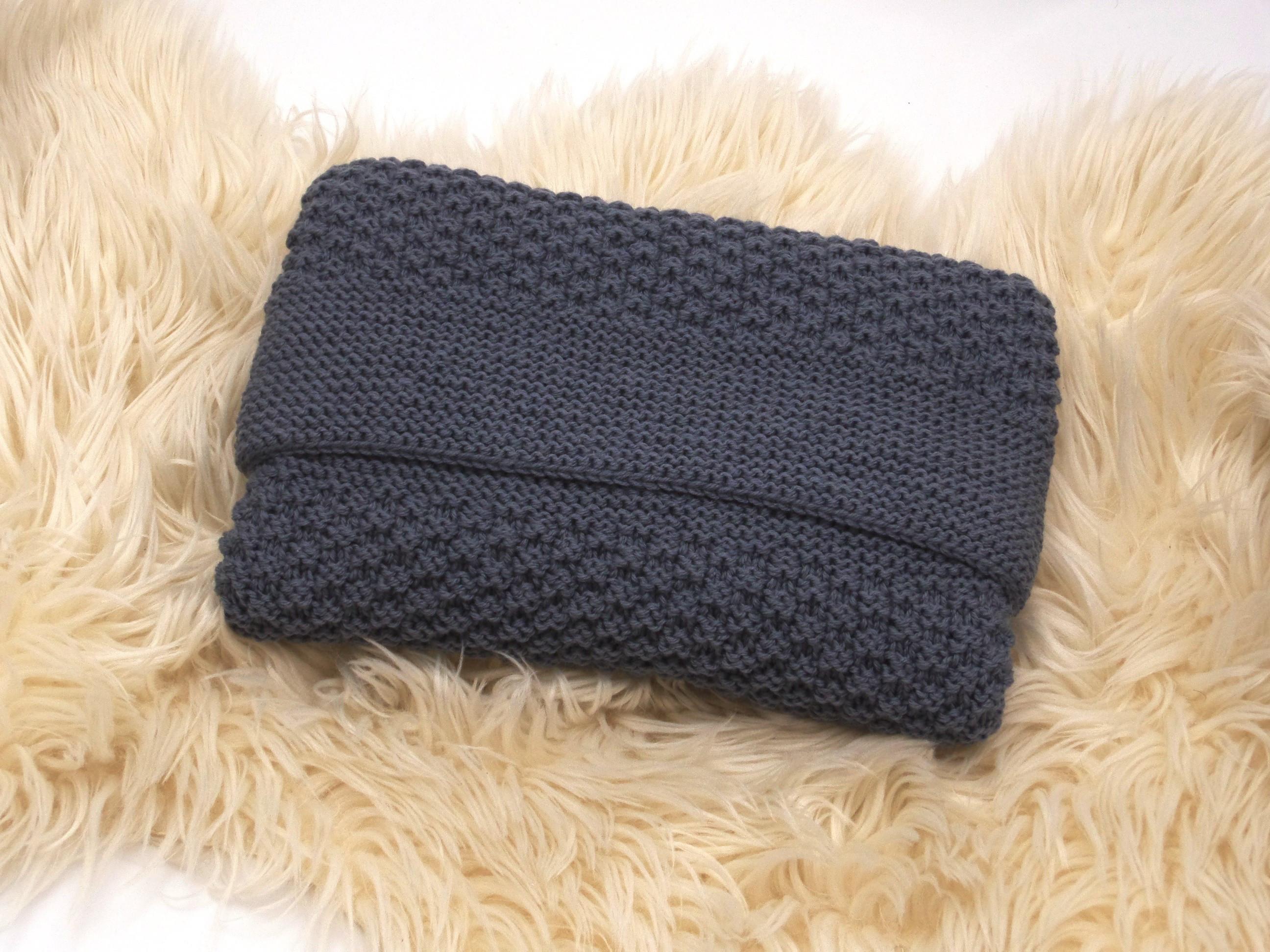 couverture bébé en laine couverture épaisse anthracite bébé tricotée main laine mérinos couverture bébé en laine