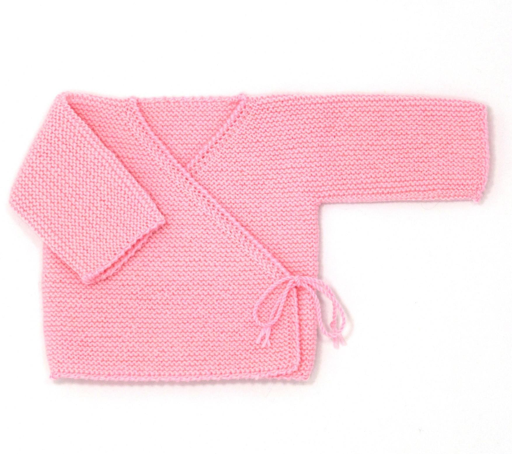cache coeur bebe tricot gratuit